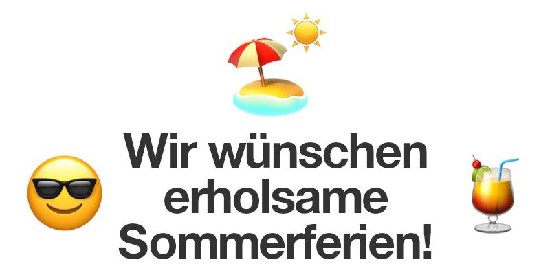 Wir wünschen erholsame Sommerferien! 🏖️☀️